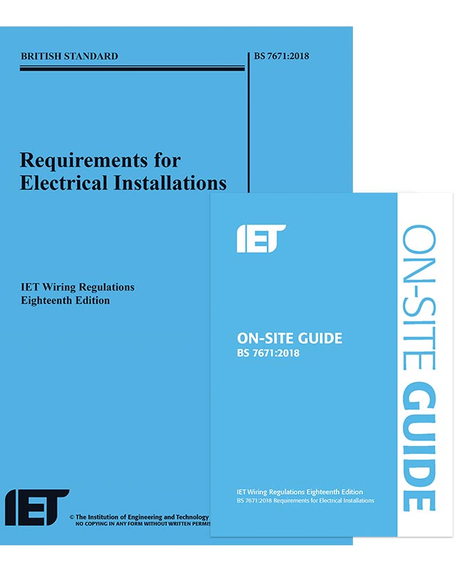 IET Wiring Regulations 18th Edition and On-Site Guide Bundle ... on